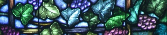 Stained Glass window of grape vine