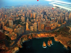 Beirut from the air. (Photo Credit: Rand Michael)