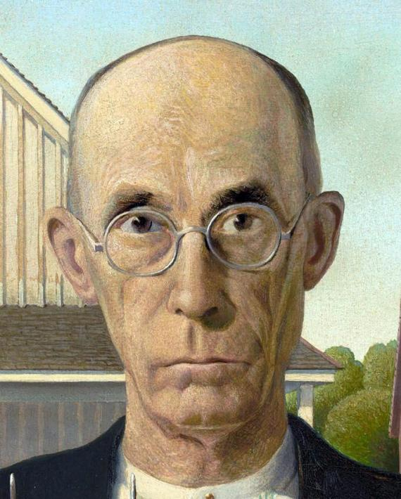Mr. Nazarene is the husband from American Gothic