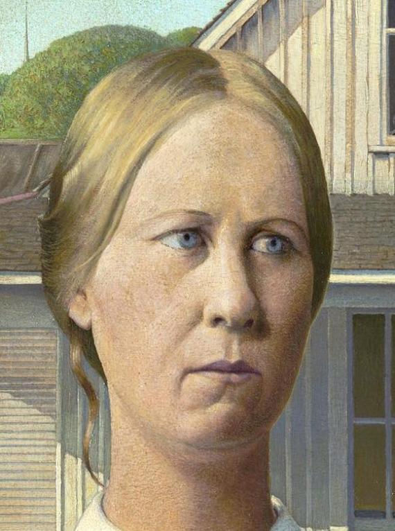 Mrs. Nazarene is the wife from American Gothic