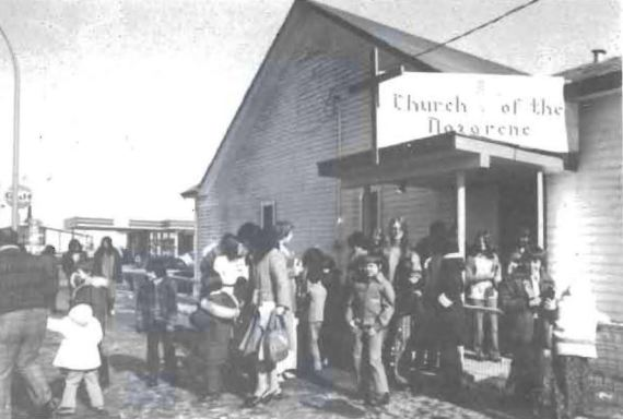 Whitehorse, AK Church of the Nazarene, built in the 1950s (photo from whitehorsenazarene.org).