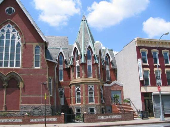View of the beautiful turret of the Community Worship Center in Brooklyn, NY (photo from forgotten-ny.com).