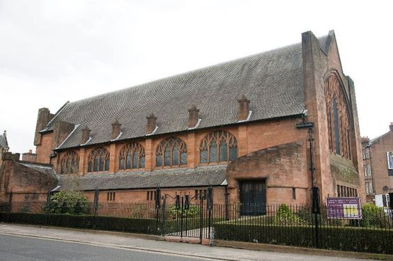 Paisely, Scotland: St Matthews Church of the Nazarene. Art Nouveau building designed in 1906 in the MacKintosh style, but by William D. McLennan.