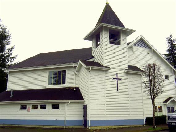 Gig Harbor, Washington Church of the Nazarene. Dedicated in 1913 as a Presbyterian Church, is known in the community for its trolling bells every afternoon (photo from gigharbormarina.com).