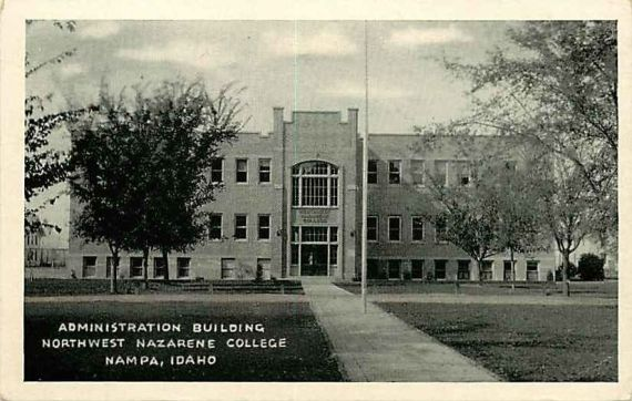 Nampa, Idaho Northwest Nazarene College (now University) Administration Building
