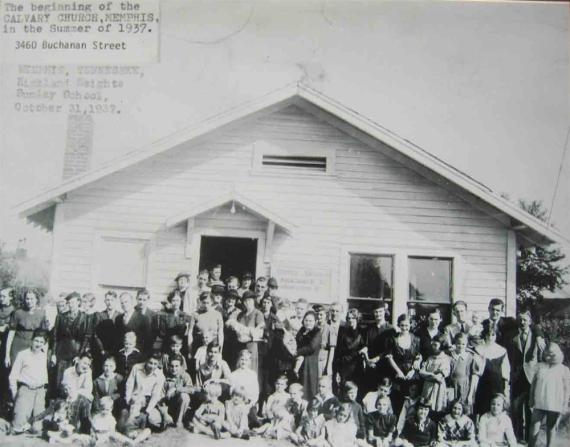 Memphis, TN Calvary Church of the Nazarene, ca 1930s.